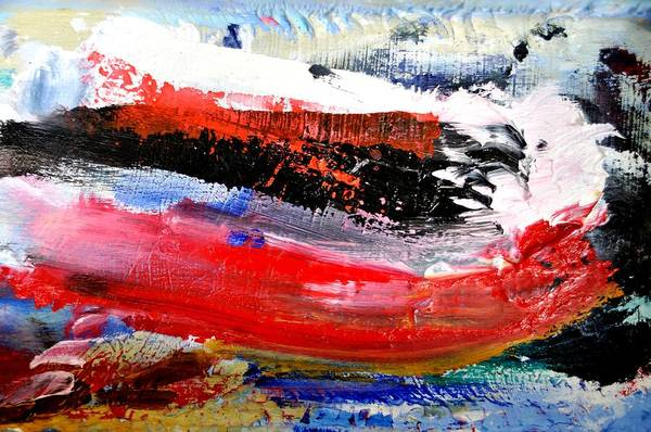 Abstract Art Print featuring the painting Abstraktes Bild 25 by Eckhard Besuden