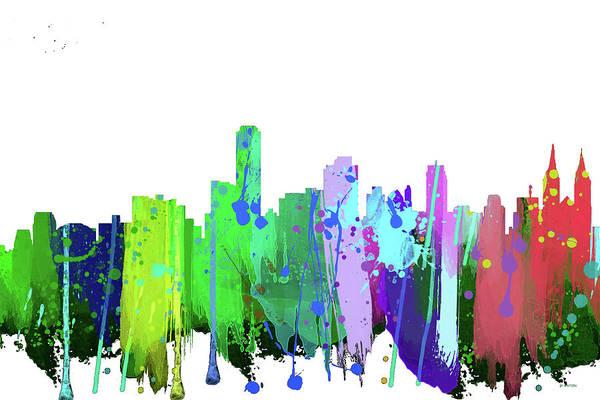 Adelaide Nsw-splash   Art Print featuring the digital art Adelaide Nsw-splash by Marlene Watson