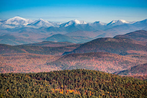 Landscape Art Print featuring the photograph Adirondack High Peaks by Michael Stockwell
