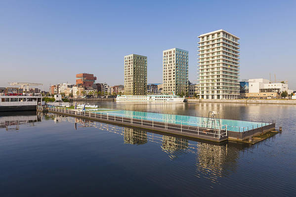 Modern Art Print featuring the photograph Afloat Swimming Pool by Werner Dieterich