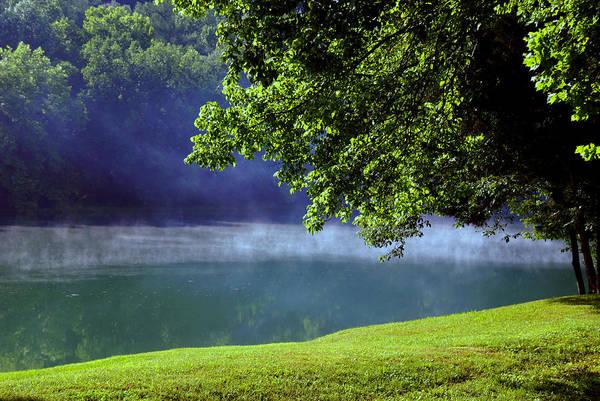 Fog Art Print featuring the photograph After A Warm Summer Rain by Susanne Van Hulst