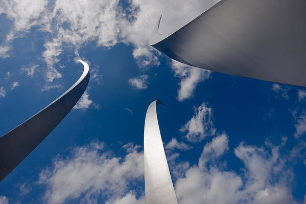 Travel Art Print featuring the photograph Air Force Memorial by Louise Heusinkveld