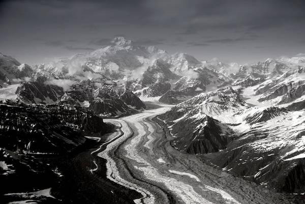 Glacier Art Print featuring the photograph Alaska Range And Denali by Alasdair Turner