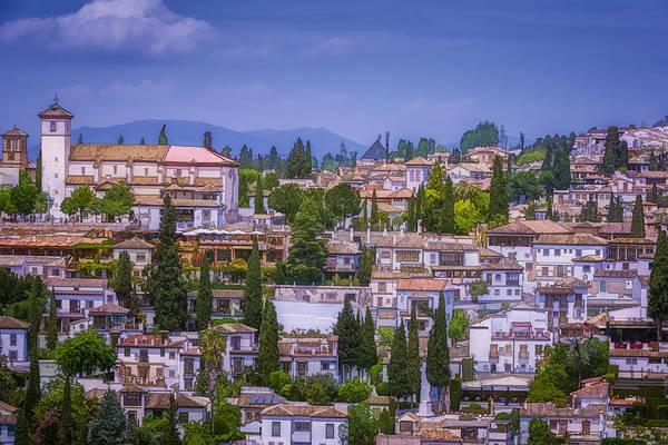 Joan Carroll Art Print featuring the photograph Albayzin View Granada by Joan Carroll