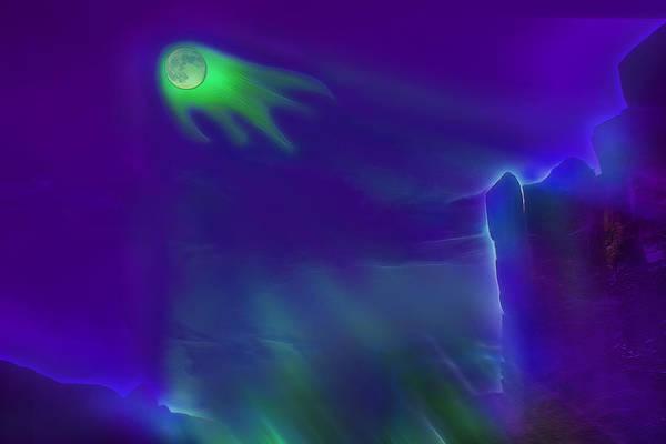 Moon Art Print featuring the photograph Alien Ghost Moon by Steve Ohlsen