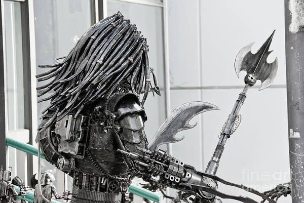 Alien Print featuring the sculpture Alien Predator by Yurix Sardinelly