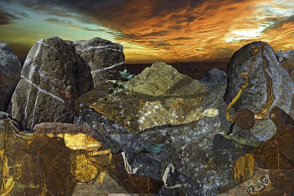 Fantasy Art Print featuring the digital art Alien Riff by Helga Schmitt