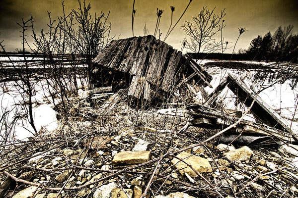 Barn Art Print featuring the photograph All Fall Down.... by Russell Styles