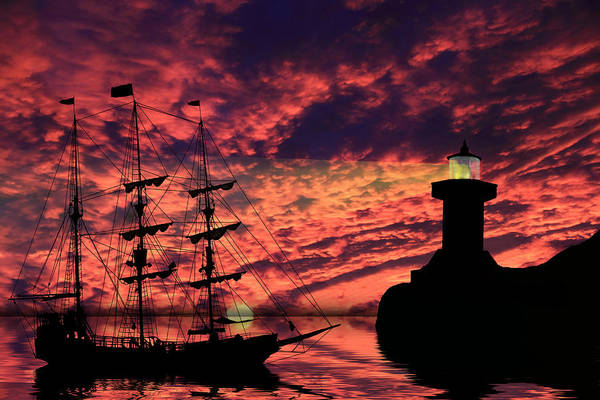 Pirate Ship Art Print featuring the photograph Almost Home by Shane Bechler