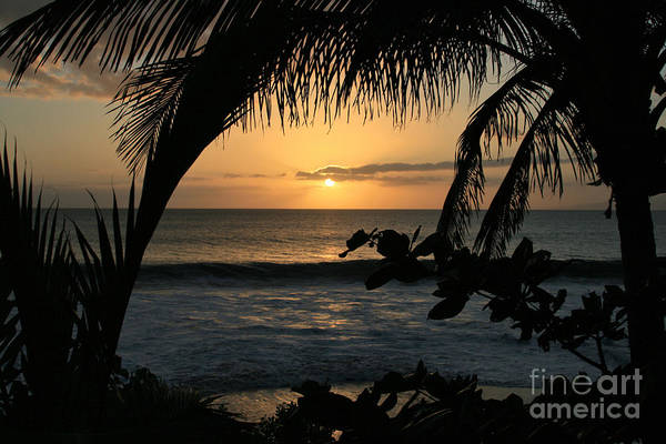 Aloha Art Print featuring the photograph Aloha Aina The Beloved Land - Sunset Kamaole Beach Kihei Maui Hawaii by Sharon Mau