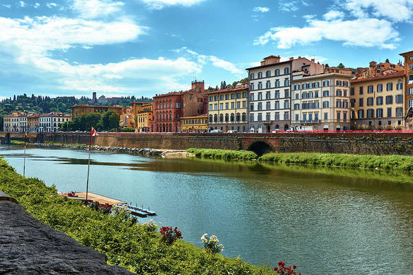 Buildings next to the Arno river in Florence
