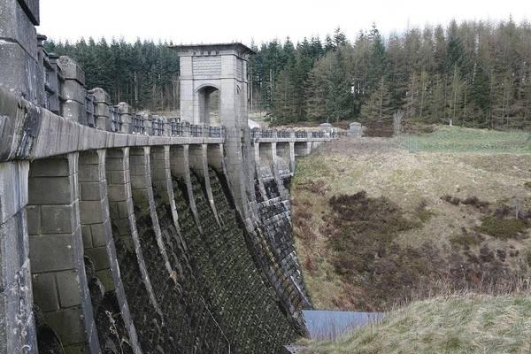 Dams Art Print featuring the photograph Alwen Reservoir Dam by Christopher Rowlands