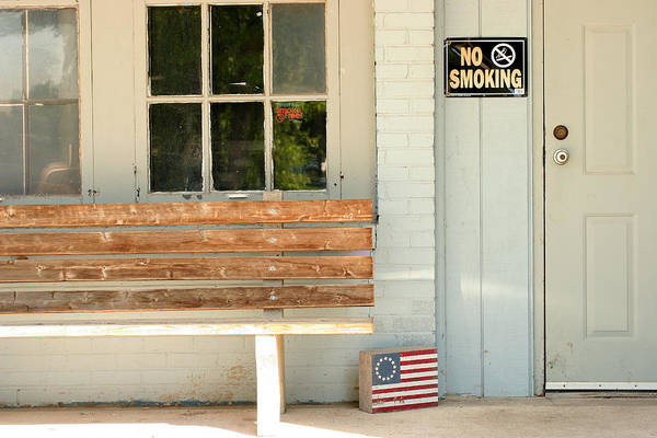 Flag Art Print featuring the photograph America No Smoking by Steve Augustin