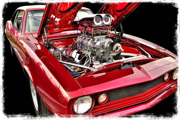 Red Hot Rod Art Print featuring the photograph American Memories by John McCuen