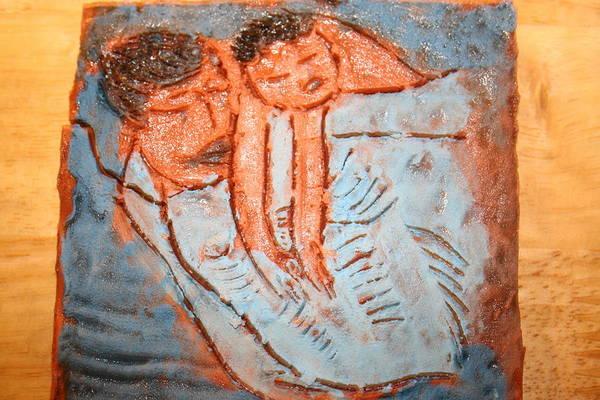Jesus Art Print featuring the ceramic art Amuweese - Tile by Gloria Ssali