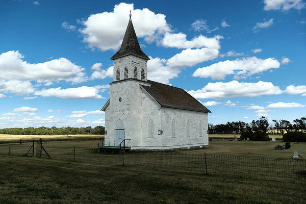 Church Art Print featuring the photograph An Old Wooden Church by Jeff Swan