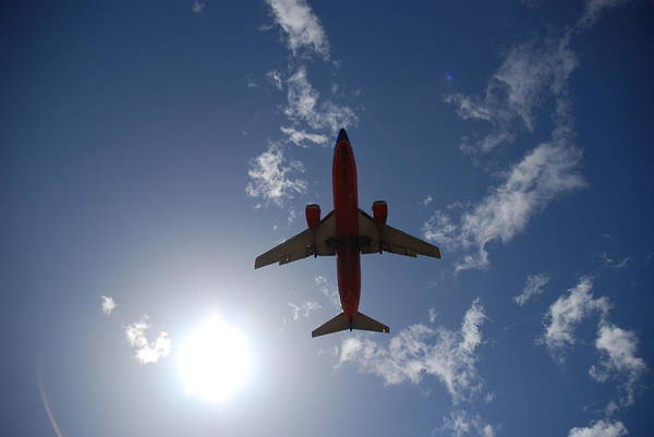 Plane Art Print featuring the photograph And Away by Clay Peters Photography