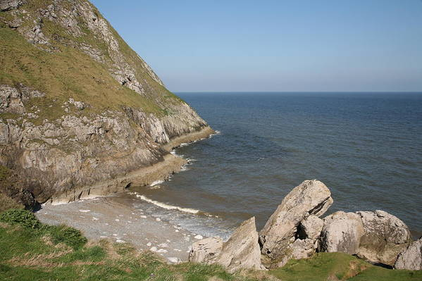 Cliffs Art Print featuring the photograph Angel Bay. Little Orme. by Christopher Rowlands