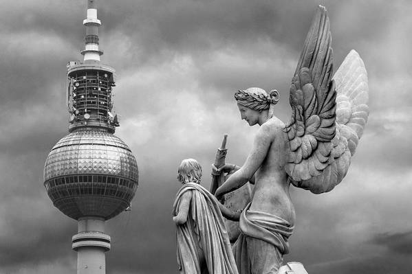 Nike Art Print featuring the photograph Angel In Berlin by Marc Huebner