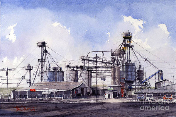 San Angelo Art Print featuring the painting Angelo Pellets by Tim Oliver