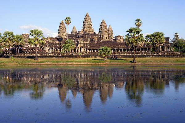 Travel Art Print featuring the photograph Angkor Wat by Liz Pinchen