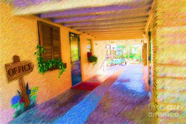 Anna Maria Elementary Art Print featuring the mixed media Anna Maria Elementary Office Hallway C130662 by Rolf Bertram