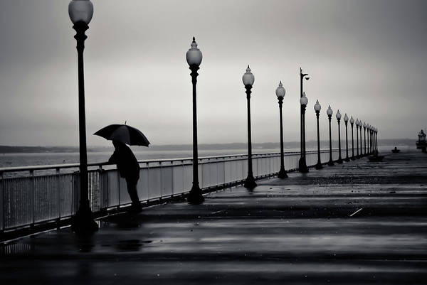 Walk Way Art Print featuring the photograph Another Rainy Day by Girardi Santiago