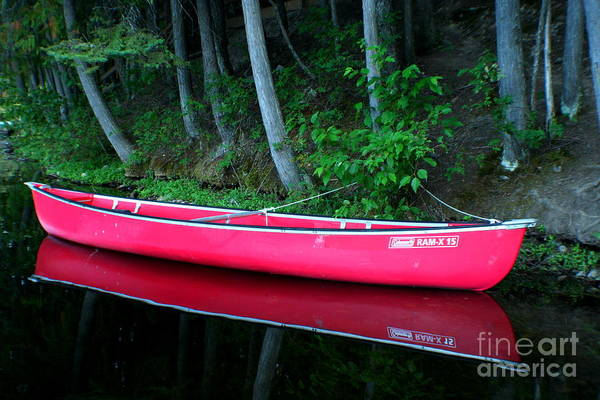 Canoe Art Print featuring the photograph Anticipation by Idaho Scenic Images Linda Lantzy