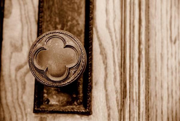 Doorknob Art Print featuring the photograph Antique Doorknob by Caroline Clark