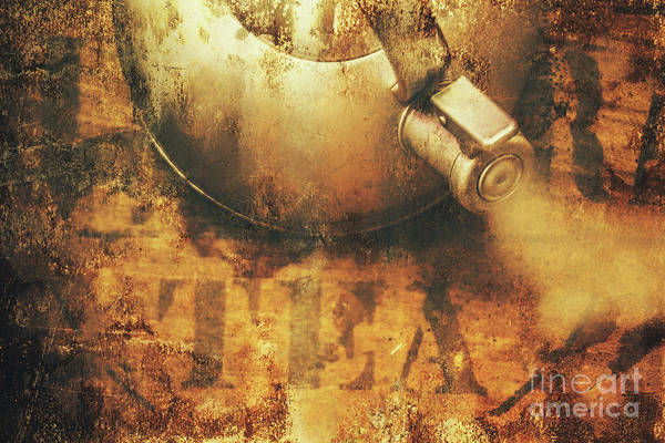 Old Art Print featuring the photograph Antique Old Tea Metal Sign. Rusted Drinks Artwork by Jorgo Photography - Wall Art Gallery