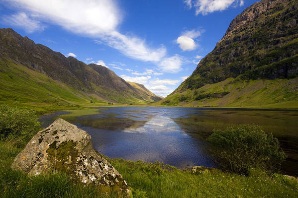 Scotland Art Print featuring the photograph Aonach Eagach Ridge Glencoe by John McKinlay