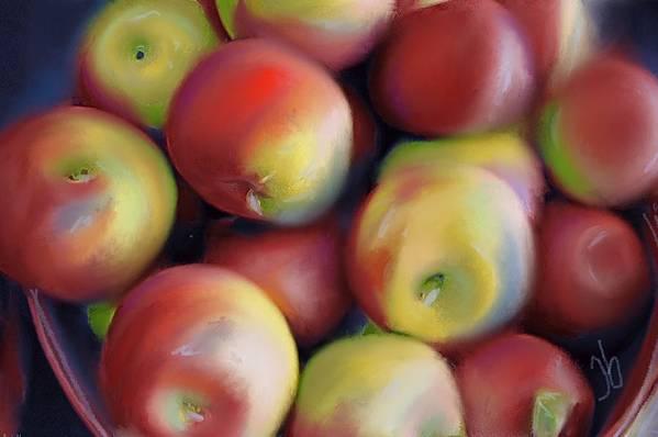 Apples Art Print featuring the digital art Apple Pie In Waiting by Jennifer Buerkle