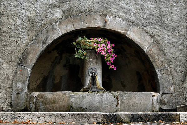 Arch Art Print featuring the photograph Arched Fountain by Joe Bonita