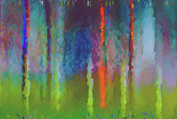 Art Print featuring the painting Art Abstract by Jim Hatch