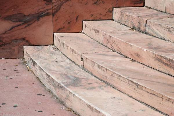 Architecture Art Print featuring the photograph Art Deco Steps by Rob Hans