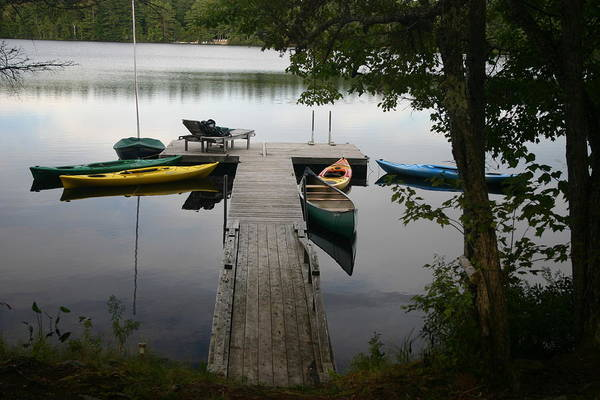 Landscape Art Print featuring the photograph At The Country Dock by Dennis Curry