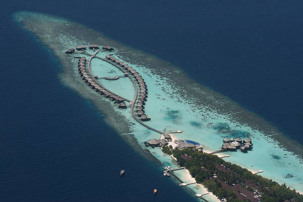 The Maldives Art Print featuring the photograph Atolls From The Air by Andrei Fried