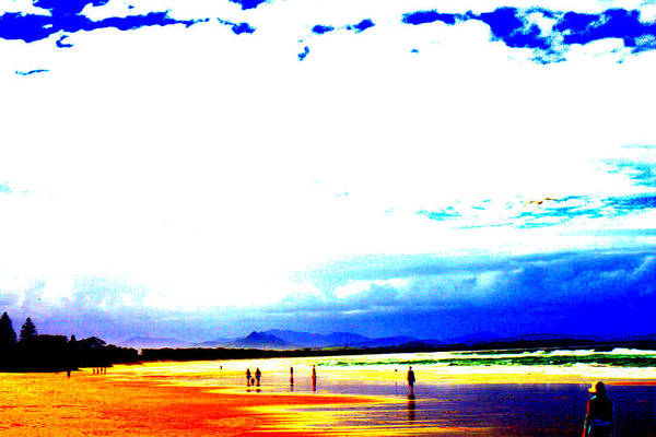 Beach Art Print featuring the digital art Aussie Beach by Darren Common