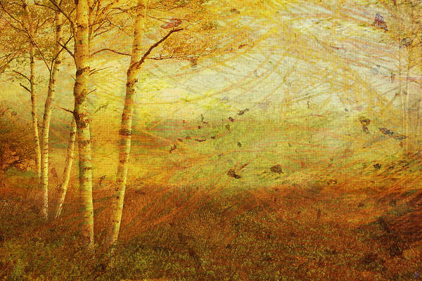 Autumn Art Print featuring the digital art Autumn Breeze by Ken Walker