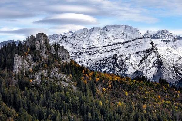 Mountians Art Print featuring the photograph Autumn In Switzerland by Nedjat Nuhi