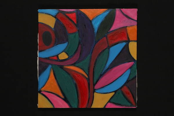 Abstract Art Print featuring the painting Autumn Light by Mary Silver