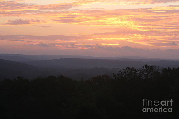 Sunrise Art Print featuring the photograph Autumn Sunrise Over The Ozarks by Nadine Rippelmeyer