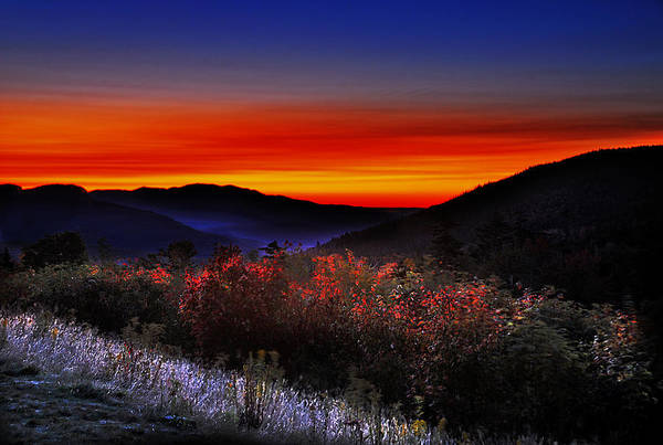Sunrise Art Print featuring the photograph Autumn Sunrise by William Carroll