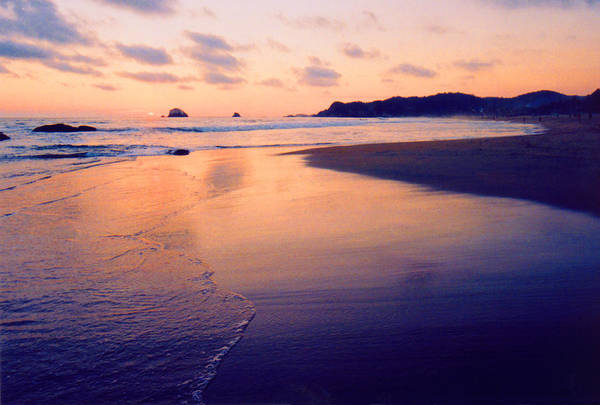 Sunset Art Print featuring the photograph Awesome Zipolite Sunset 2 by Lyle Crump