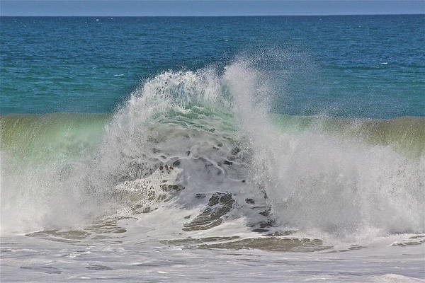 Sea Art Print featuring the photograph Baja Wave by Diana Hatcher