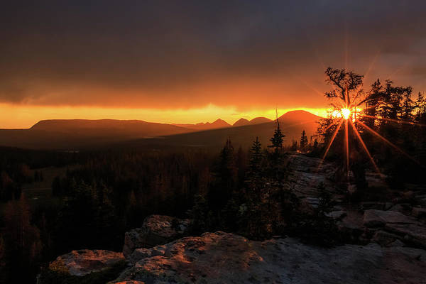Trailsxposed Art Print featuring the photograph Bald Mountain Sunset by Gina Herbert