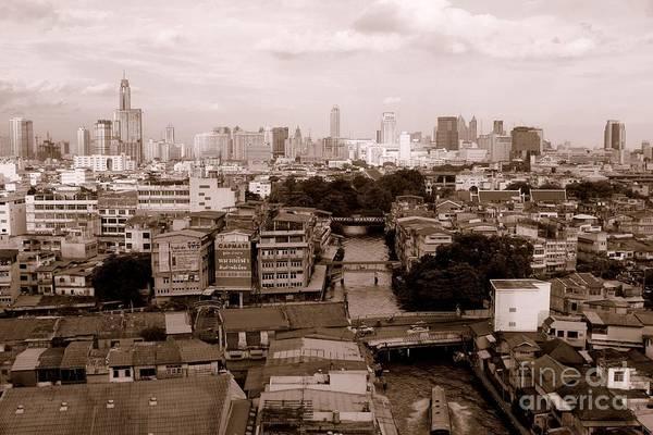 Bangkok Art Print featuring the photograph Bangkok City by Lucie Lenzket