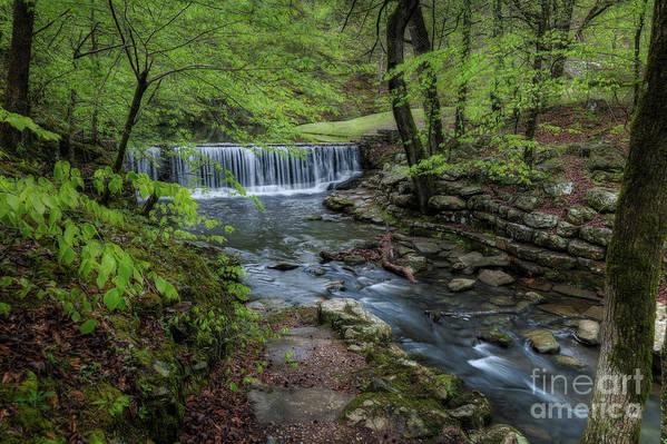 Waterfalls Art Print featuring the photograph Bard Springs by Larry McMahon