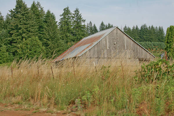 Vintage Art Print featuring the photograph Barn In Oregon by Liz Santie
