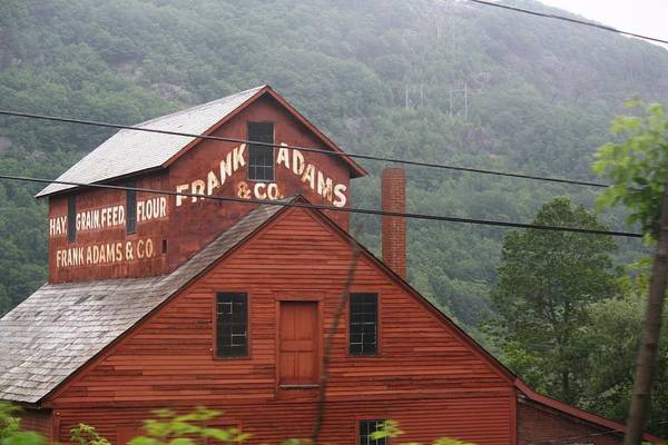 Barn Art Print featuring the photograph Barn In Vermont Along Amtrack by Donna Walsh
